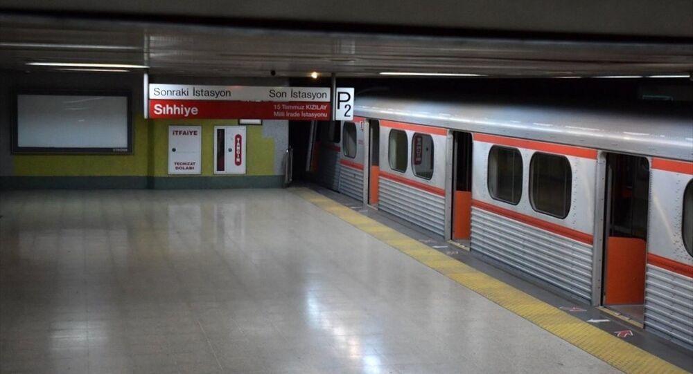 Ankara Metrosu'nda kaza