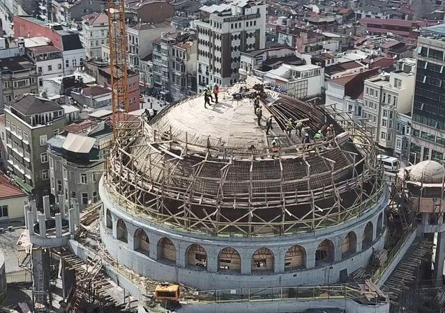 Taksim Camisi'nin kaba inşaatının yüzde 85'i tamamlandı