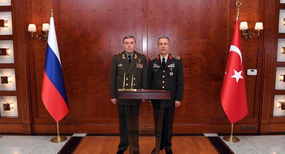 Genelkurmay Başkanı Orgeneral Hulusi Akar- Rusya Federasyonu Genelkurmay Başkanı Orgeneral Valery Gerasimov