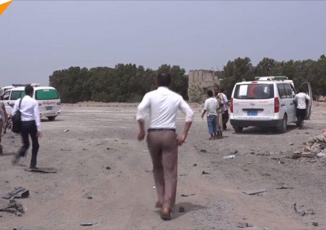 Yemen'de Suudi Arabistan öncülüğündeki hava saldırısında çok sayıda çocuk öldü (VIDEO HABER)