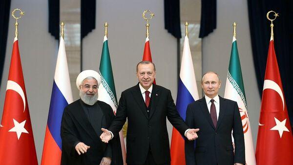 Erdoğan-Putin-Ruhani - Sputnik Türkiye