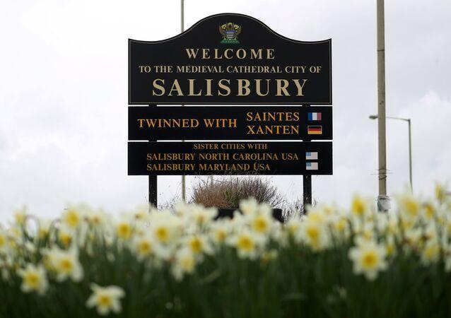 Salisbury hoşgeldin tabelası