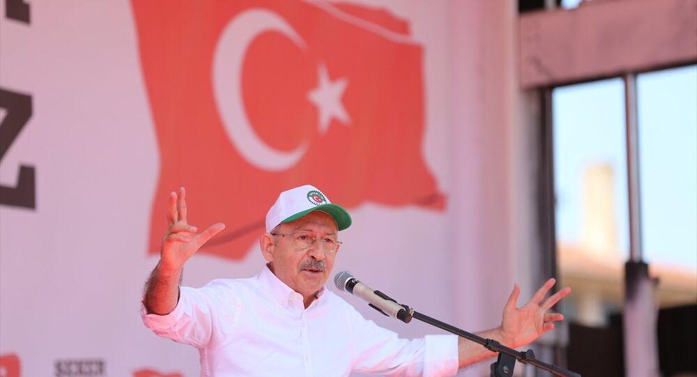 CHP Genel Başkanı Kemal Kılıçdaroğlu, partisinin Çorum'da düzenlediği Şeker Vatandır Vatan Satılamaz mitinginde konuştu.