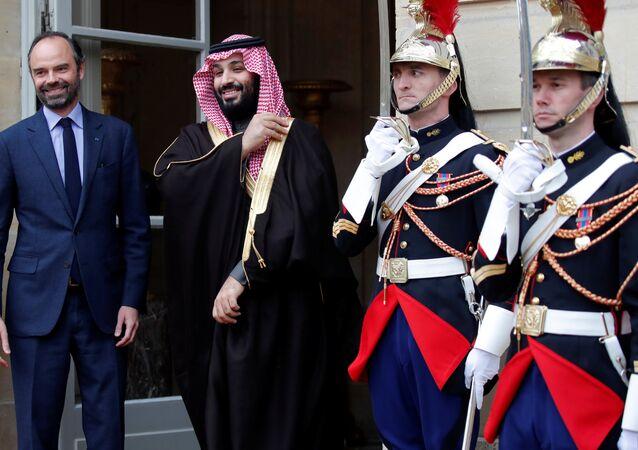 Fransa Başbakanı Edouard Philippe tarafından başbakanlık köşkü Matignon'da ağırlanan Suudi Veliaht Prensi Muhammed bin Selman