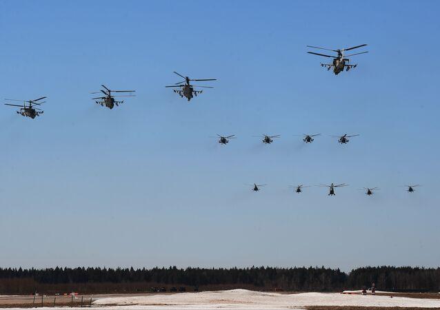 Rusya Hava Kuvvetleri'nin Zafer Günü provası