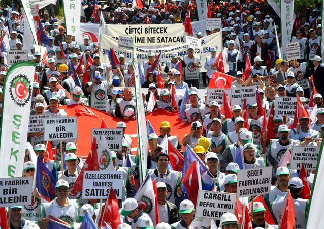 Ankara'da 'Şeker vatandır, satılamaz' eylemi