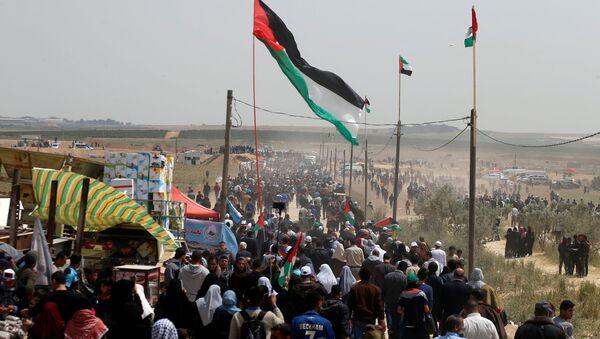 Gazze-İsrail sınırı- Büyük Geri Dönüş Yürüyüşü - Sputnik Türkiye