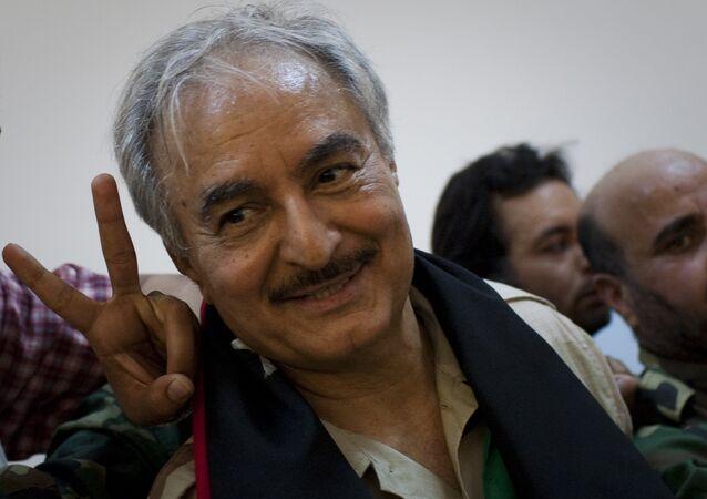 Libya'nın Tobruk merkezli Temsilciler Meclisi'ne bağlı emekli general Halife Hafter