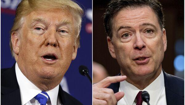 ABD Başkanı Donald Trump-Eski FBI Direktörü James Comey - Sputnik Türkiye
