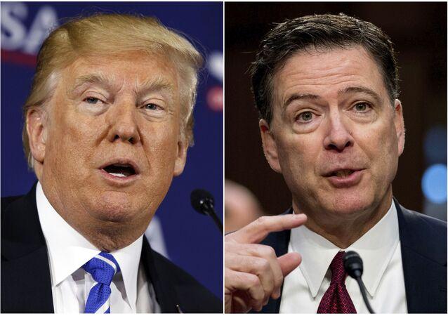 ABD Başkanı Donald Trump-Eski FBI Direktörü James Comey