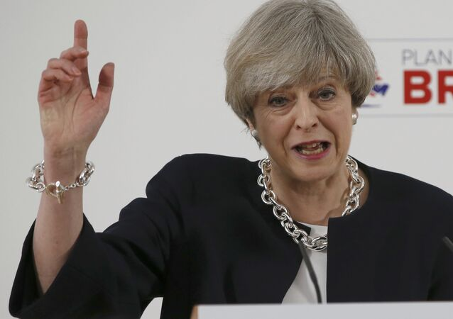 Britain's Prime Minister, Theresa May, delivers a speech to launch the Conservative Party's local elections campaign, in Calverton Village Hall, Calverton, Britain April 6, 2017.