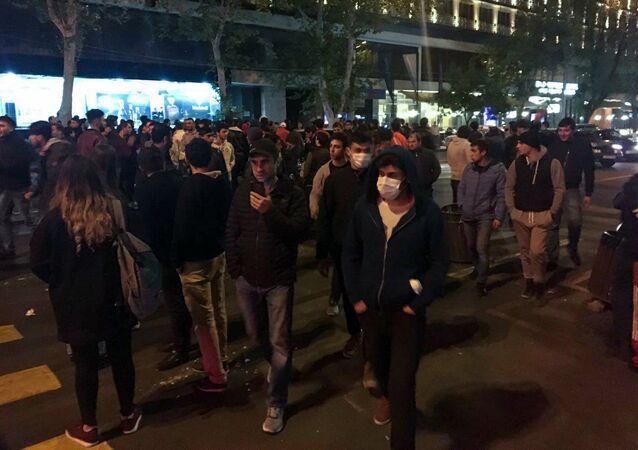 Erivan'da protestolar