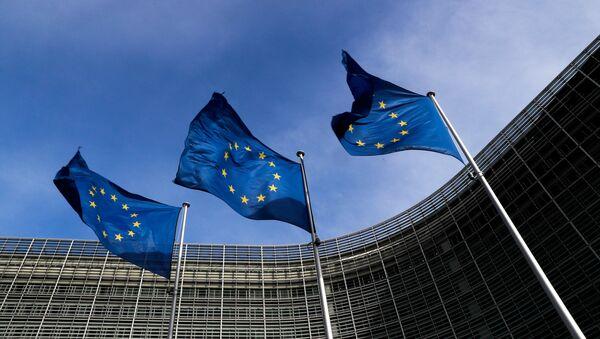 Brüksel, Avrupa Komisyonu merkezi, AB bayrakları - Sputnik Türkiye
