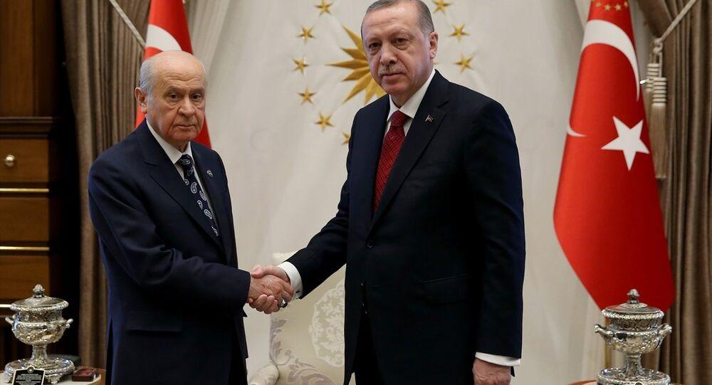 MHP Genel Başkanı Devlet Bahçeli- Cumhurbaşkanı ve AK Parti Genel Başkanı Recep Tayyip Erdoğan