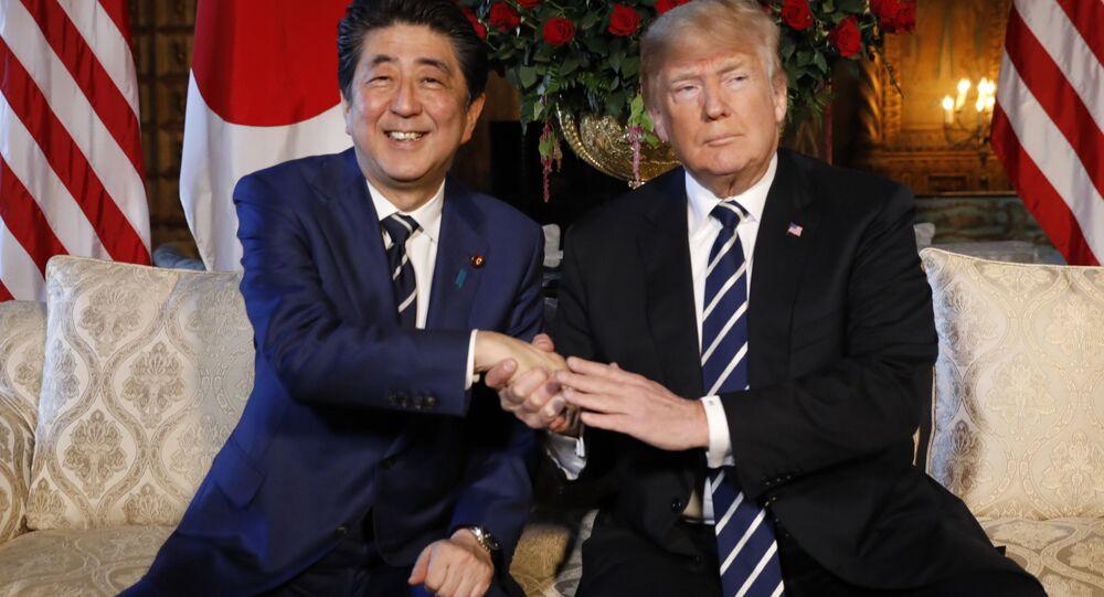 ABD Başkanı Donald Trump ve  Japonya Başbakanı Şinzo Abe Florida'daki  Mar-a-Lago yerleşkesinde bir araya geldi
