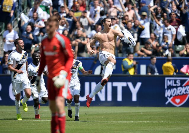 ABD'nin Los Angeles Galaxy ekibinde forma giyen Zlatan Ibrahimovic