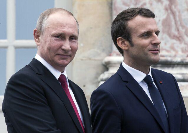 Rusya Devlet Başkanı Vladimir Putin-Fransa Cumhurbaşkanı Emmanuel Macron