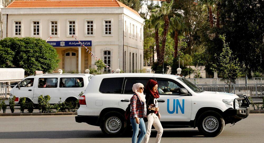 OPCW yetkililerini taşıyan BM aracı Şam'da