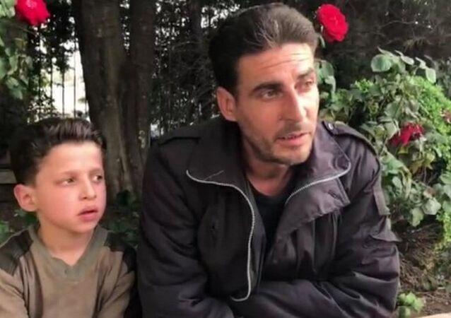 Suriyeli çocuk Hasan Diab ve babası