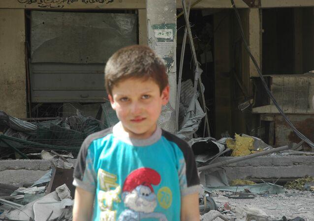 Beyaz Miğferler'in 'kimyasal saldırı' videosunda yer alan çocuklardan biri, 10 yaşındaki Mustafa