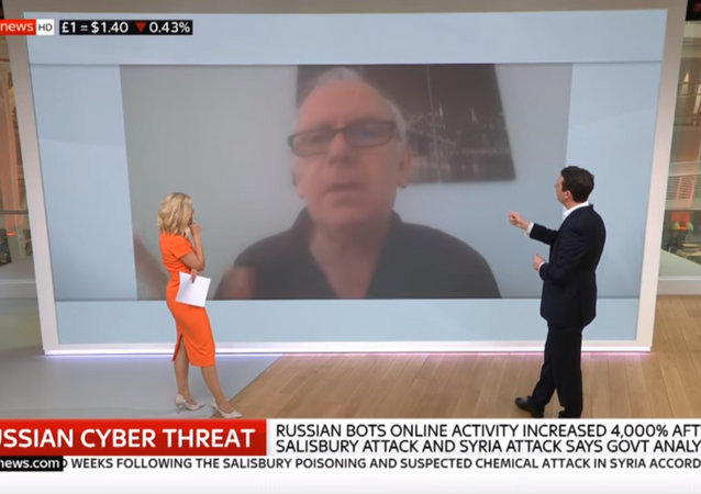 Twitter user @Ian56789, an accused Russian bot, responds to the British government's claims on Sky News.