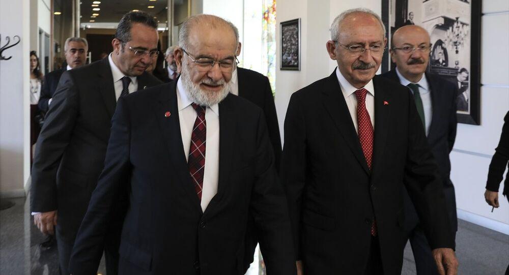 Saadet Partisi Genel Başkanı Temel Karamollaoğlu -  CHP Genel Başkanı Kemal Kılıçdaroğlu