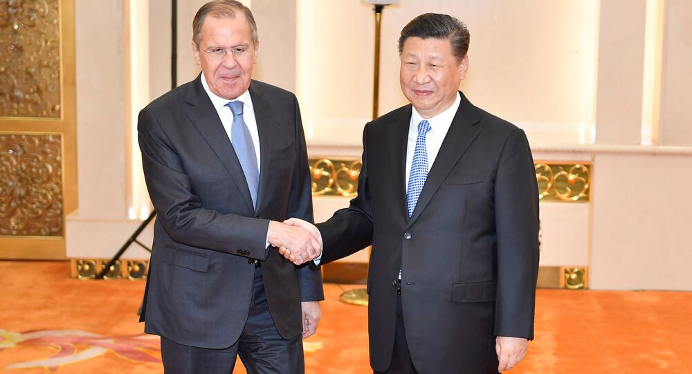 Rusya Dışişleri Bakanı Sergey Lavrov-Çin Devlet Başkanı Şi Cinping