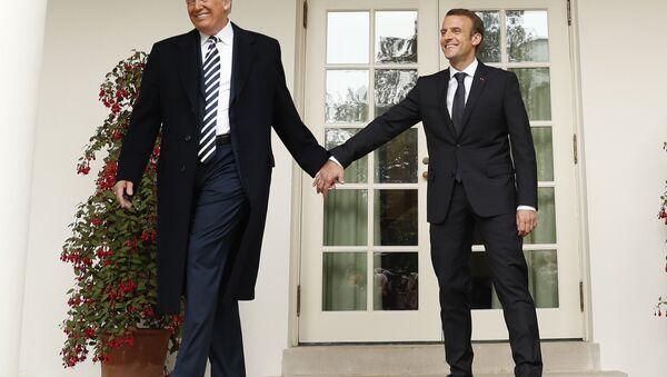 ABD Başkanı Donald Trump- Fransa Cumhurbaşkanı Emmanuel Macron - Sputnik Türkiye