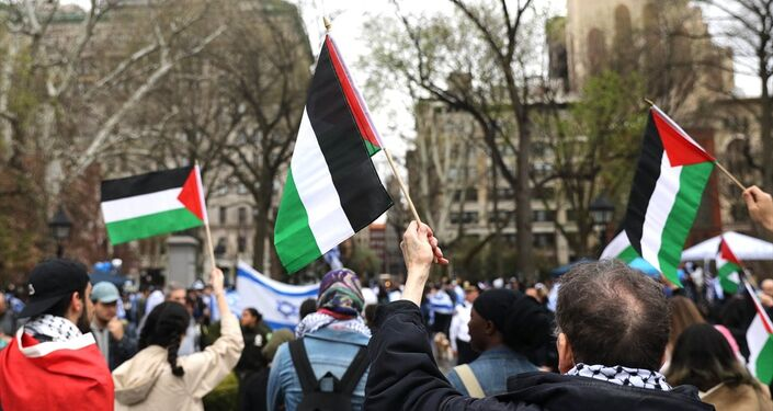 New York'ta Ortodoks Yahudilerin de katılımıyla Gazze protestosu