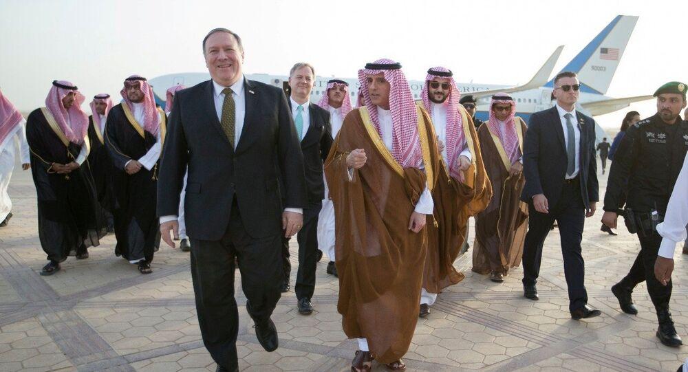 ABD Dışişleri Bakanı Mike Pompeo- Suudi Arabistan Dışişleri Bakanı Adil el Cubeyr