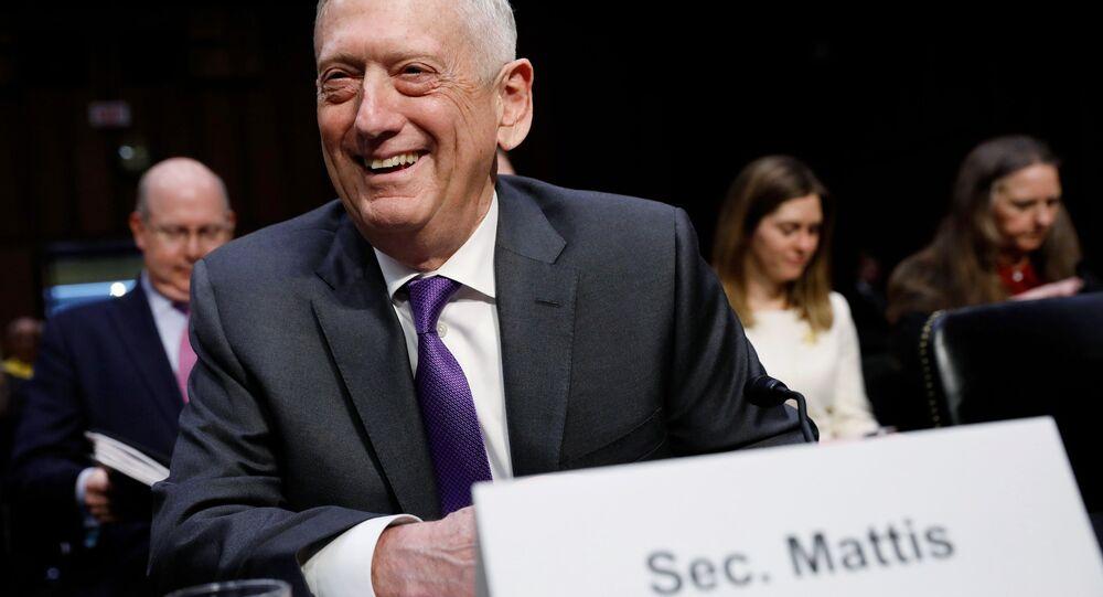 ABD Senatosu Silahlı Hizmetler Komisyonu'nda konuşan Savunma Bakanı James Mattis, 26 Nisan 2018