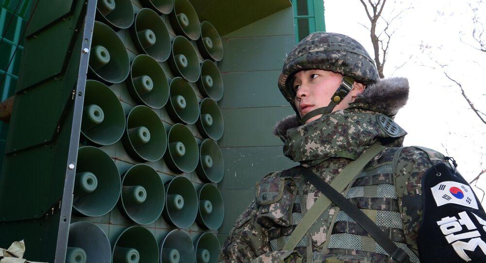 Güney Kore propaganda hoparlörleri