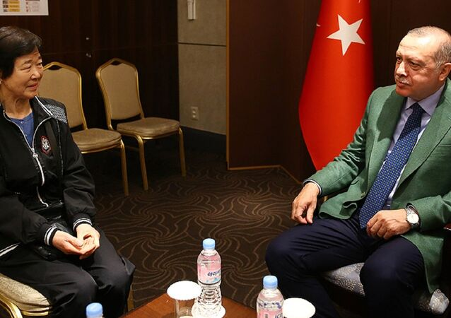 Cumhurbaşkanı Recep Tayyip Erdoğan - Ayla filminin gerçek kahramanı Eunja Kim