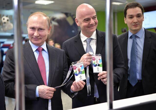 Rusya Devlet Başkanı Vladimir Putin ve FIFA Başkanı Gianni Infantino