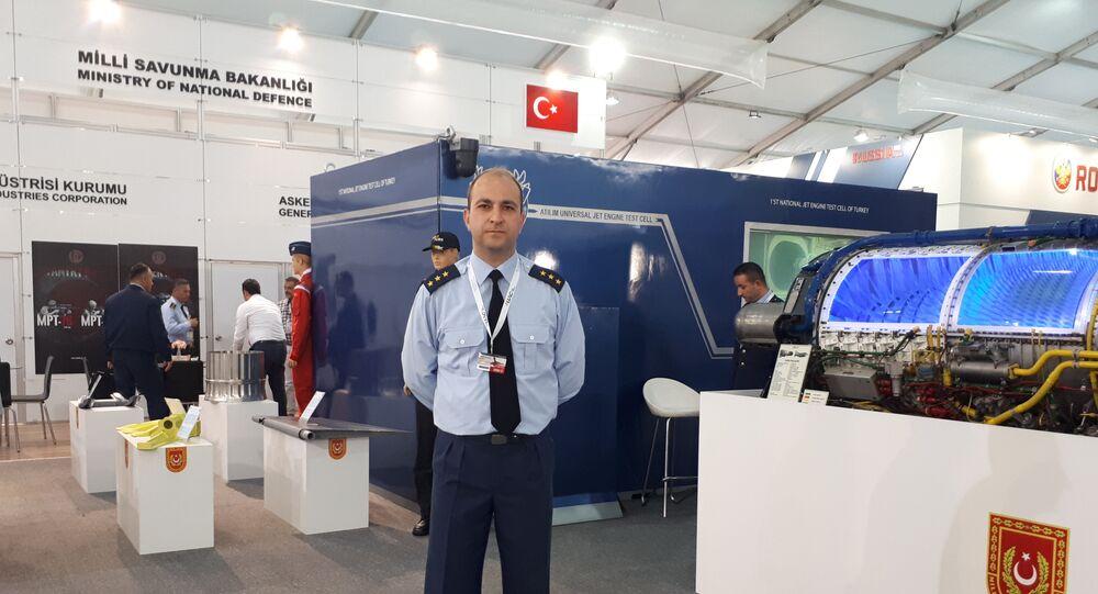 Eskişehir'deki 1. Hava Bakım Fabrika Müdürlüğü görevlisi Murat Keskin