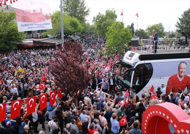 CHP'nin Cumhurbaşkanı Adayı Muharrem İnce, memleketi Yalova'da miting düzenledi.
