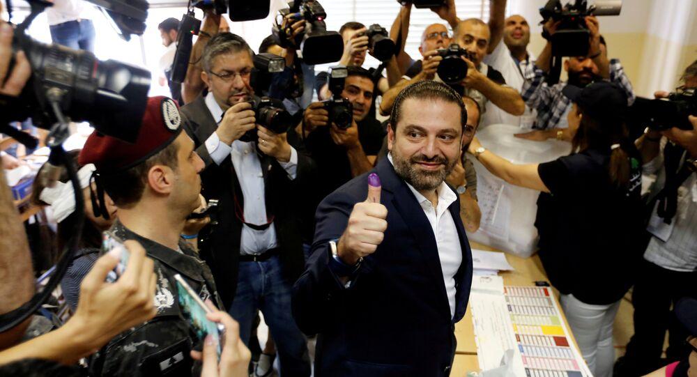 Lübnan Başbakanı Saad el Hariri, başkent Beyrut'ta oyunu kullandı.