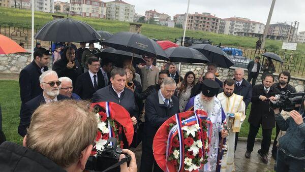 Gelibolu Rus anıtında 10'uncu yıl töreni düzenlendi - Sputnik Türkiye