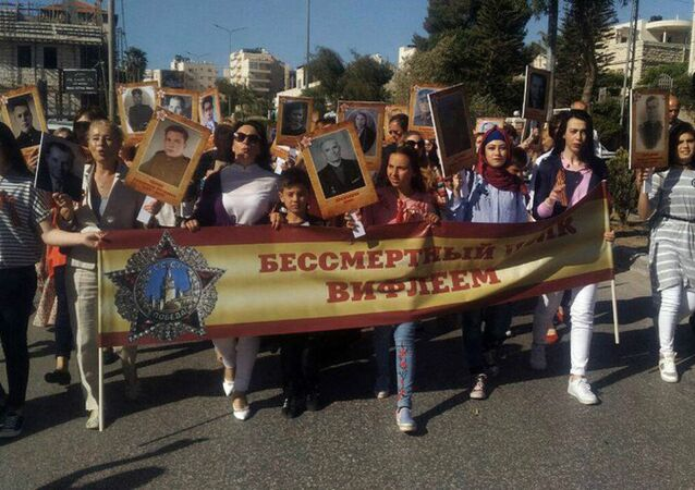 Immortal Regiment WWII commemoration march