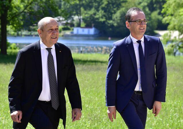 Almanya Dışişleri Bakanı Heiko Maas ve Fransa Dışişleri Bakanı Jean Yves Le Drian