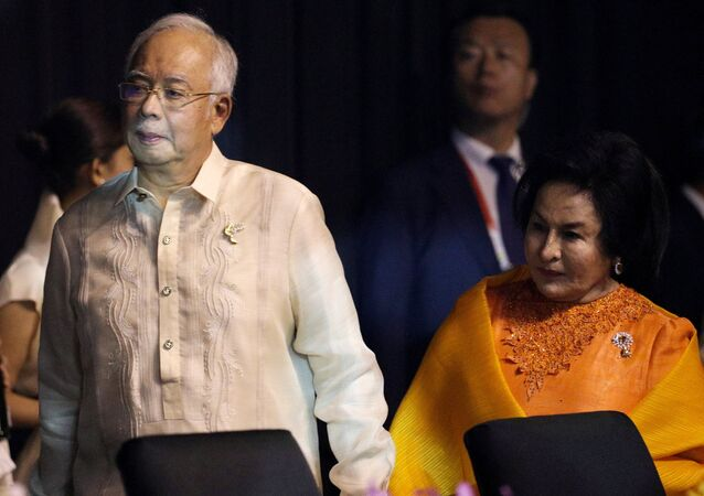 Eski Malezya Başbakanı Necip Rezak ve eşi  Rüsma Mansur