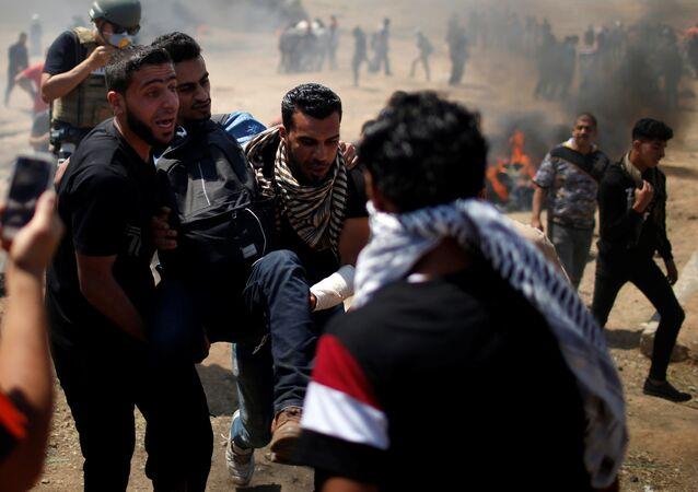 ABD Büyükelçiliği'nin Tel Aviv'den taşınarak İsrail'in kuruluşunun 70. yıldönümü olan bugün Kudüs'te açılmasına karşı Gazze'de protestolar, çatışmalar