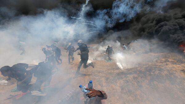 ABD'nin Kudüs Büyükelçiliği açılışına yönelik Gazze sınrındaki protestolara İsrail ordusu çok sert müdahale etti. - Sputnik Türkiye