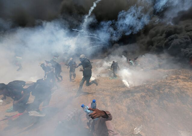 ABD'nin Kudüs Büyükelçiliği açılışına yönelik Gazze sınrındaki protestolara İsrail ordusu çok sert müdahale etti.