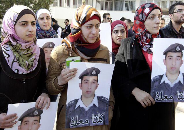 Ürdünlü savaş pilotu Muaz el-Kesasibe