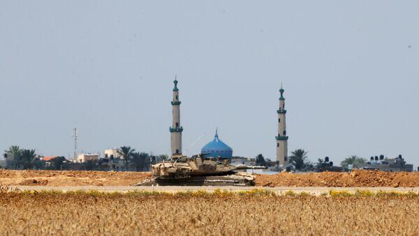 İsrail tankı- İsrail-Gazze sınırı - Sputnik Türkiye