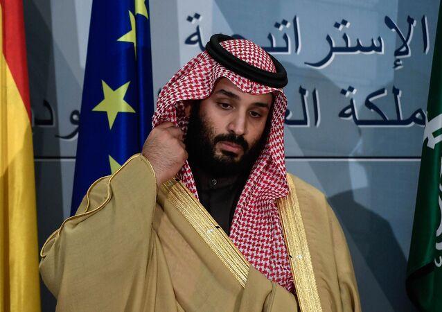 Suudi Veliaht Prens Muhammed bin Selman (MbS) Madrid'de La Moncloa Sarayı'nda