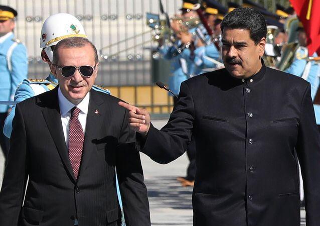 Nicolas Maduro ile Recep Tayyip Erdoğan, 6 Ekim 2017, Ankara'daki Cumhurbaşkanlığı Külliyesi