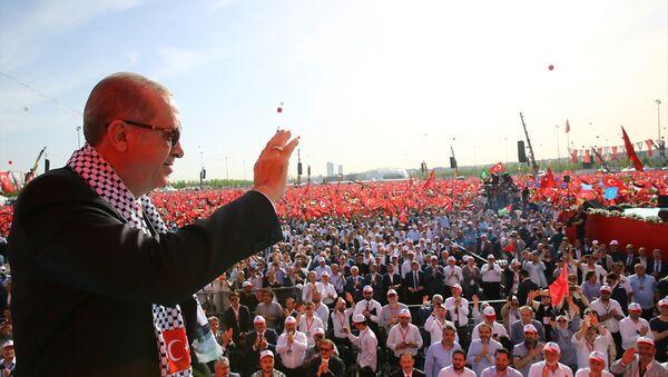 Erdoğan: İslam dünyası ve tüm insanlık Kudüs imtihanından sınıfta kalmıştır - Sputnik Türkiye