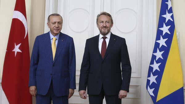 Cumhurbaşkanı Recep Tayyip Erdoğan- Bosna Hersek Devlet Başkanlığı Konseyi Başkanı Bakir İzzetbegovic - Sputnik Türkiye
